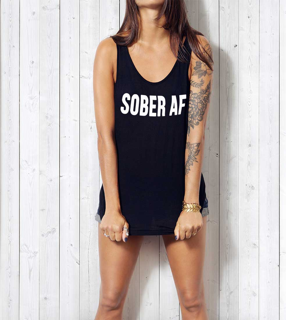 Women/'s Racerback Tank FREEDOM Sober Clothing